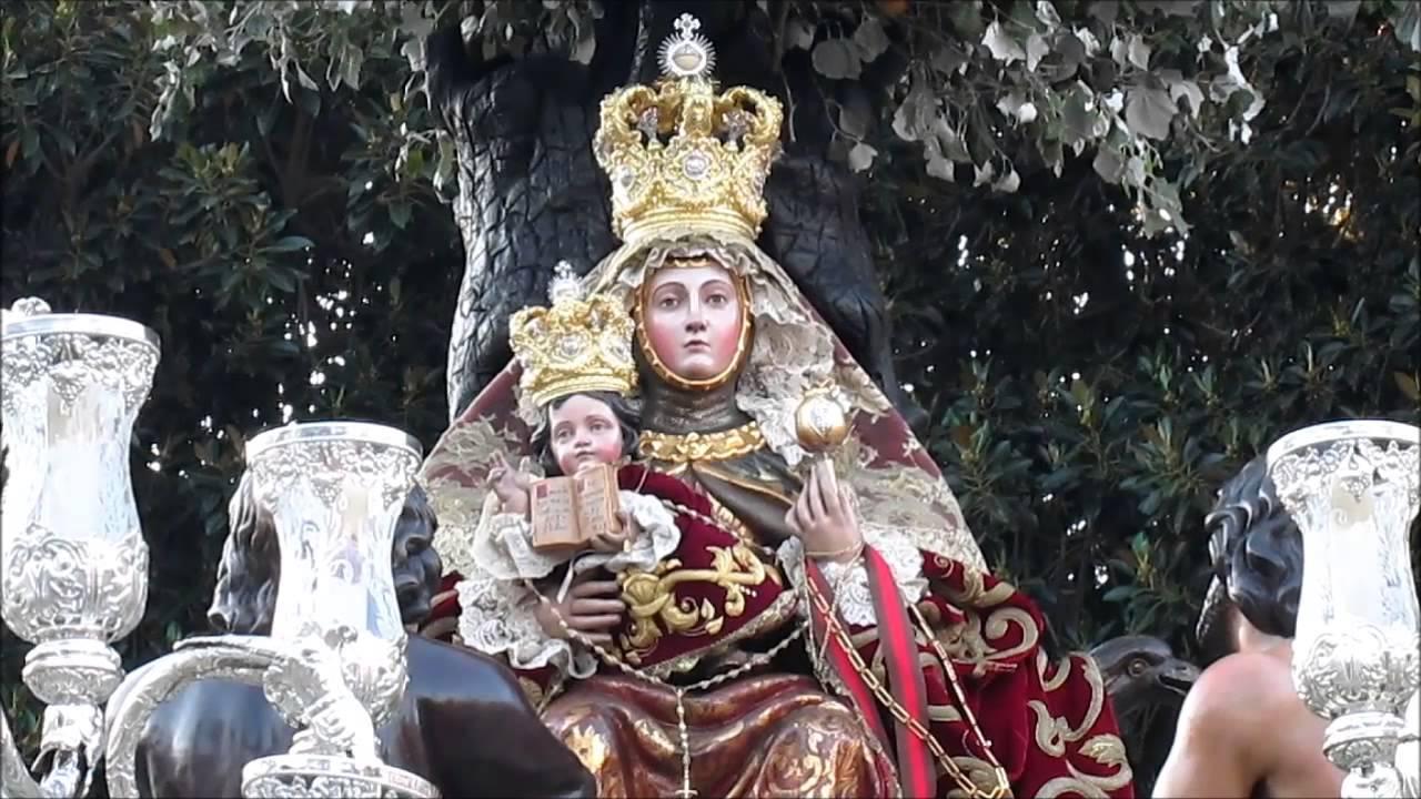 Resultado de imagen de Vídeo de la Virgen de Valvanera en las Hermanitas de los Pobres. Sevilla, Glorias 2017