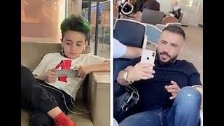 سنابات رافت البدر مع ابنه احمد يغنون ربي ارزقني
