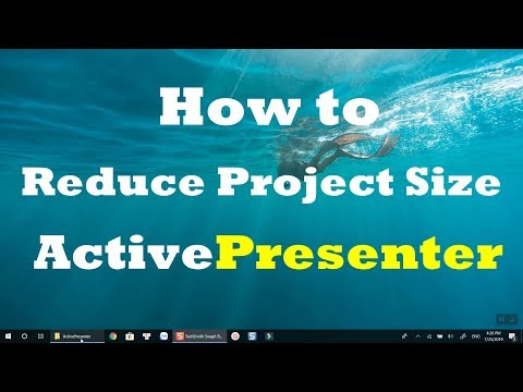 How to Reduce Project File Size In ActivePresenter