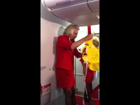 Richard Branson's Safety Demon onboard AirAsia X Flight PER-KUL 12 May