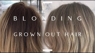 BLONDING GROWN OUT HAIR! MY FAVORITE PRODUCTS TO USE