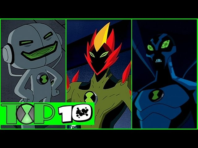 Top 10 Aliens De Ben 10 Fuerza Alienígena Youtube