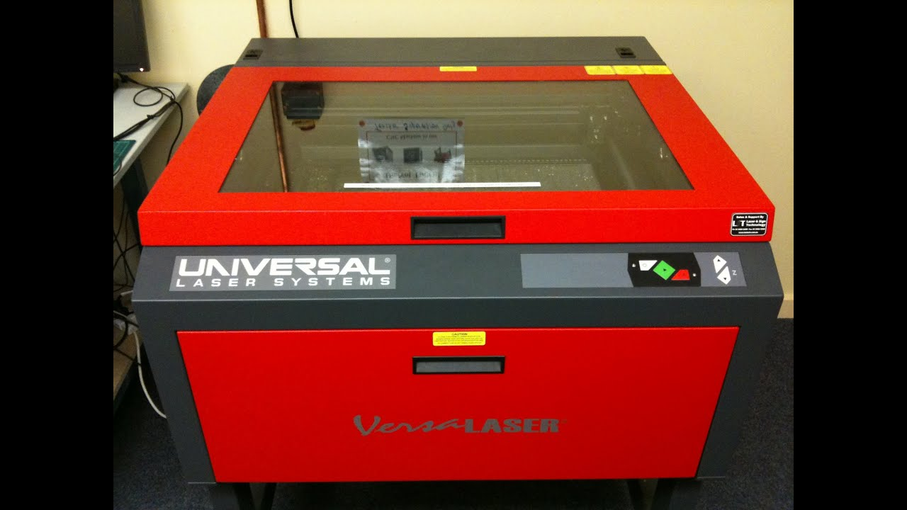 Versa laser uls cuts out robot parts youtube for Universal laser systems