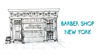 #2 - How to draw Barber shop, New York