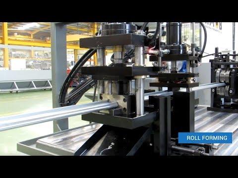 Roll Forming – J profile garage door tracks roll forming line PF16 | AMOB
