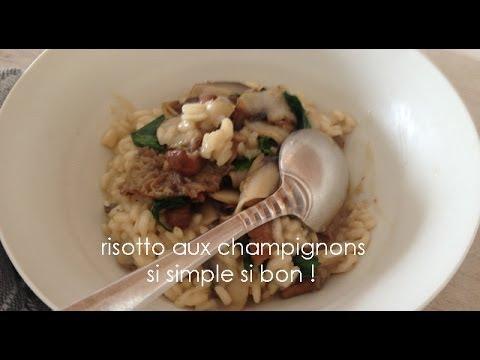 Recette Risotto aux champignons simple et facile de JP Vigato - YouTube