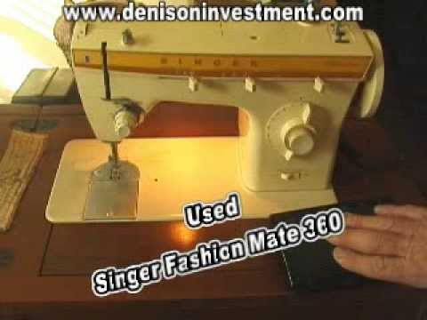 Used Singer Fashion Mate 40 Denisoninvestment YouTube Fascinating Singer 360 Sewing Machine