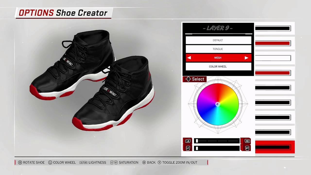 NBA 2K18 Shoe Creator Air Jordan 11