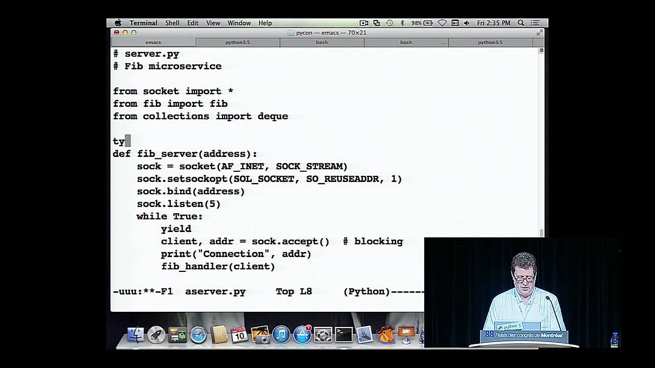 David Beazley - Python Concurrency From the Ground Up: LIVE! - PyCon 2015 -  YouTube