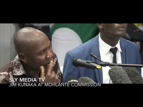 Jim Kunaka tells it all to the Commission and Zimbabweans