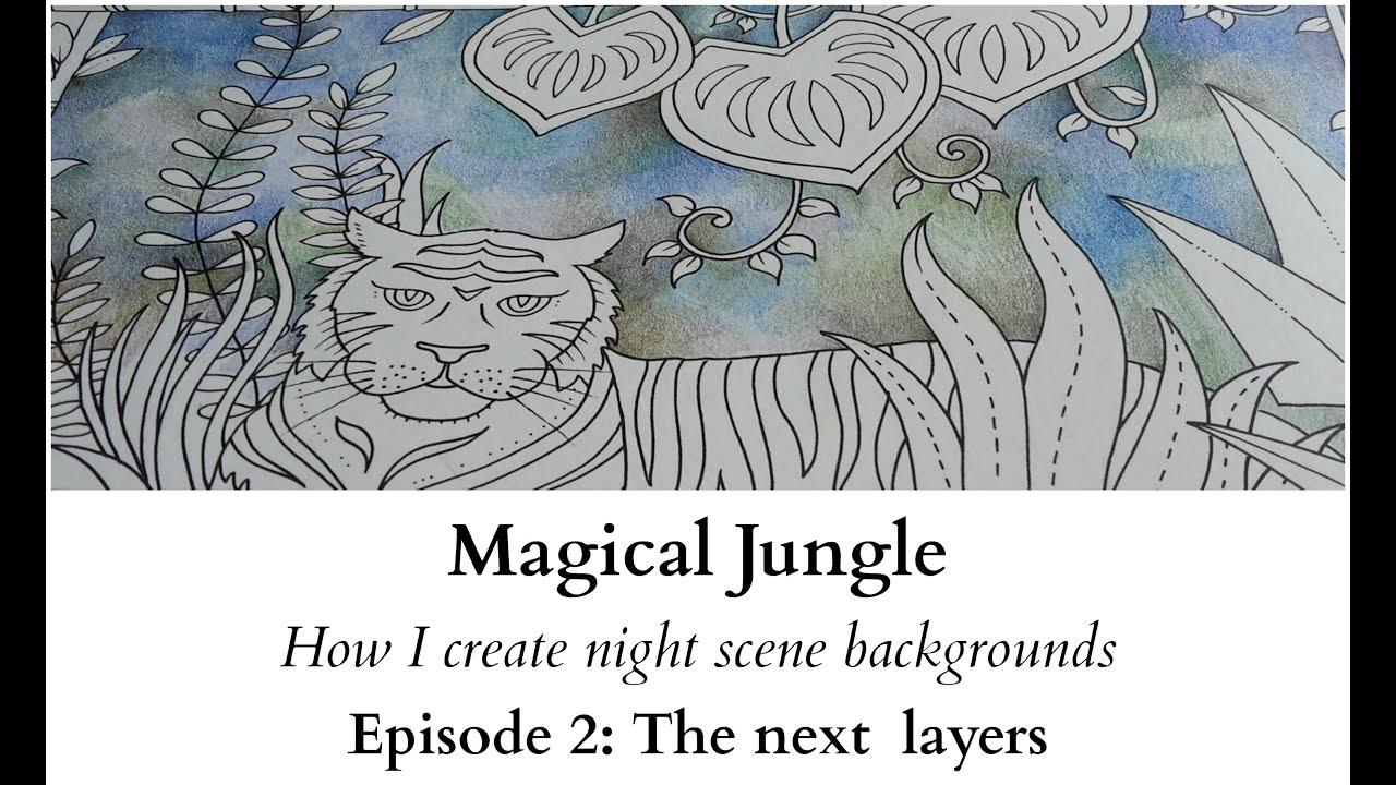 magical jungle how i create night scene backgrounds ep2 the