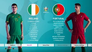 Ireland v Portugal: UEFA Euro 2020 on eFootball PES 2020 - Quarter-Finals
