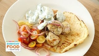 Greek-style Chicken With Pickled Onions, Tomatoes, And Tzatziki - Everyday Food With Sarah Carey