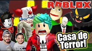 Casa del Terror en Roblox | Monstruos de Halloween | Juegos Roblox Karim Juega