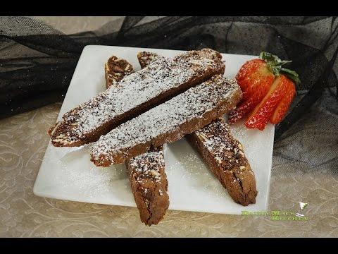Chocolate Amaretto Biscotti