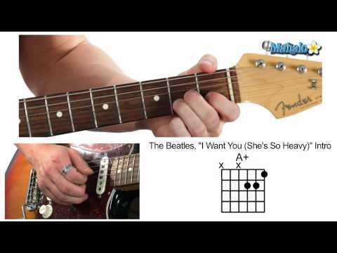 How to Play I Want You (She's So Heavy) Intro by The Beatles on Guitar
