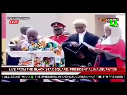 Nana Akufo-Addo sworn in as President Of Ghana