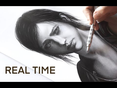 """Real Time Drawing - Ellie from """"The Last of Us"""""""