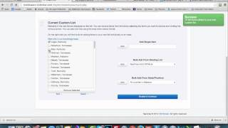 Creating Custom City County or Zip Code Lists
