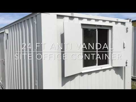 24 FT ANTI VANDAL SITE OFFICE CONTAINER PORTABLE CABIN