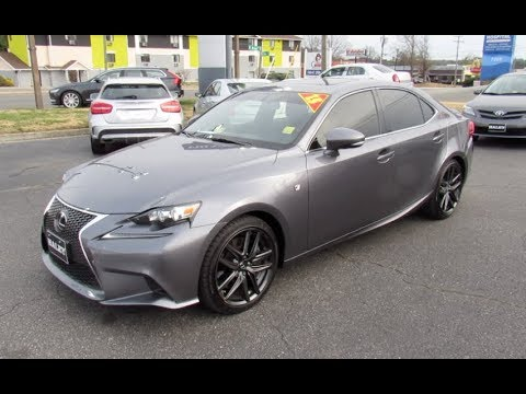 2015 Lexus IS350 F-sport AWD Walkaround, Start up, Tour and Overview