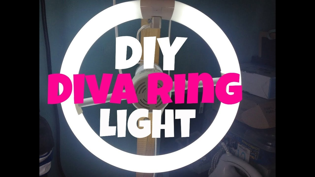 & DIY DIVA RING LIGHT | MAKEUPBYBREVIE - YouTube azcodes.com