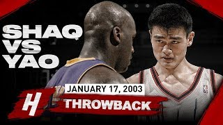 The Game SHAQ Met Rookie Yao Ming For The FIRST Time & HE WAS SHOCKED | January 17, 2003