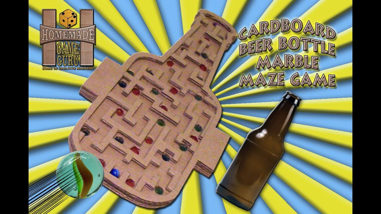 Diy Cardboard Box Beer Bottle Marble Labyrinth Game Youtube