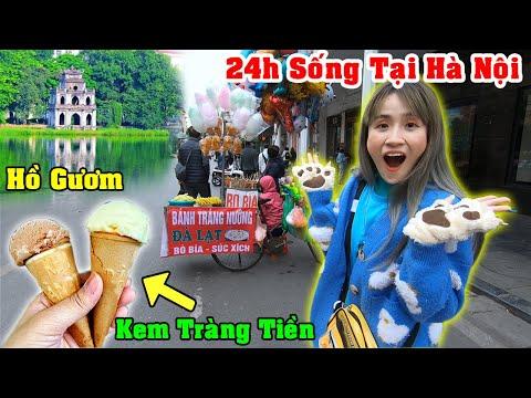 Thử Thách 24H Ở Hà Nội - Vê Vê Channel