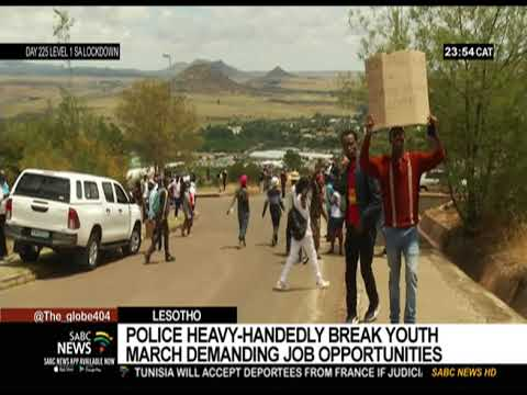 Police heavy-handedly break youth march demanding job opportunities in Lesotho