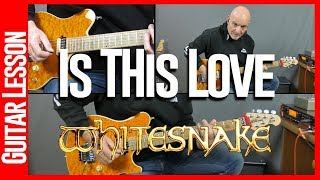 Is This Love By Whitesnake - Guitar Lesson Tutorial Including Solo
