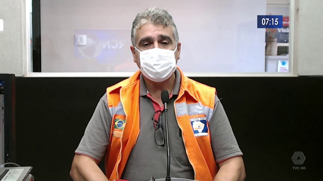 Paulo Leite, Coordenador da Defesa Civíl, fala sobre o atendimento da Caixa na Lagoa Maior