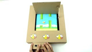 How To Make Flappy Bird Using Cardboard ✅ Real Life Flappy Bird - Amazing Game from Cardboard DIY