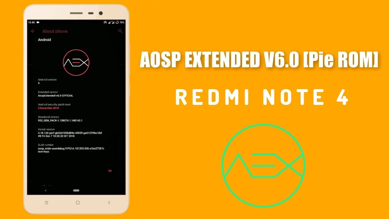AOSP Extended Android 9 0 Pie ROM - Redmi Note 4 || Stable & Fast (100th  Video)