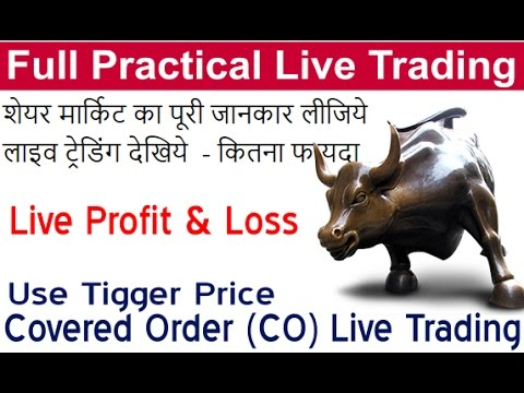 Share/Stock market live trading (Live Profit & Loss) Covered Order Trading