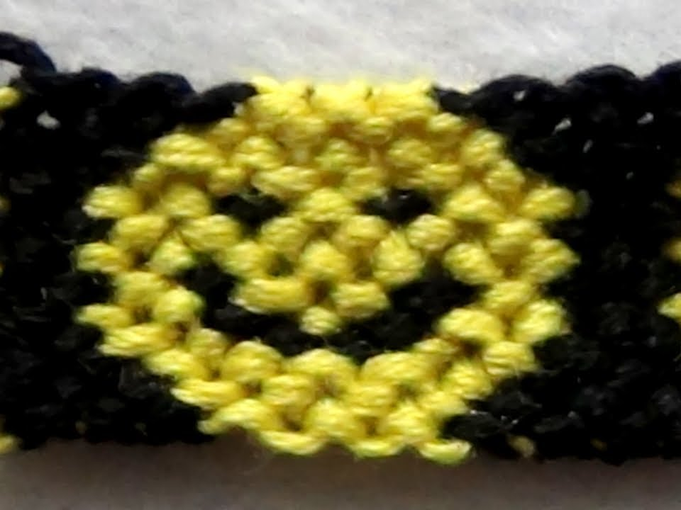 Friendship Bracelet Tutorial Intermediate Smiley Faces