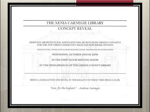 The Xenia Carnegie Library Concept Reveal