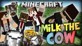 Minecraft NEW MINIGAME: Milk the cow