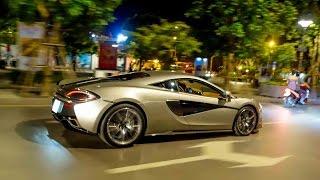 Cường Đô La và Hạ Vi cùng dạo phố đêm Sài Gòn trên siêu xe McLaren 570S