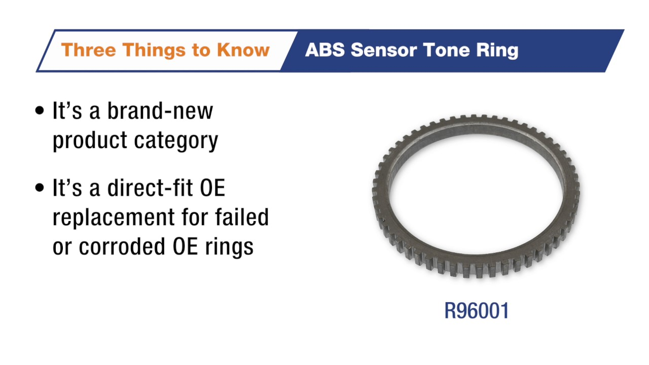 Three Things to Know: ABS Sensor Tone Ring