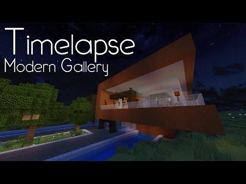 Minecraft Timelapse - Modern Art Gallery!