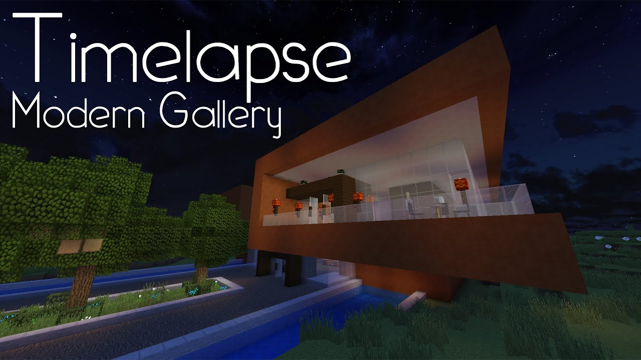 Minecraft Timelapse Modern Art Gallery YouTube