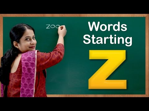 Learn Words Starting with Z | Flash Cards – Words Starting With Letter z | Toddler Words With Z