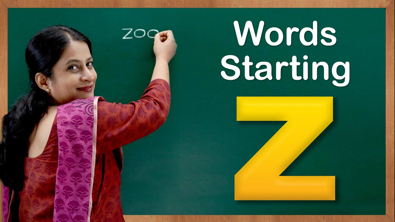 Learn Words Starting With Z Flash Cards Words Starting With