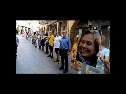 Cadena humana per la Llibertat a Tàrrega - Onze mesos sense els Jordis