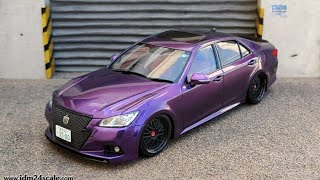 Full Build: Aoshima VIP Toyota Crown 'Athlete' (GRS214) 1/24 scale