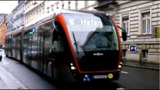 Megabus (VanHool) der LinzAG auf der  Linie 46   (HBF - Hafen)