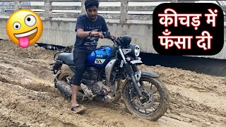 Yamaha Fz-x Real Off Roading 🔥🔥 | क्या लद्दाख जा पाएगी ? Real Off Roader 🤫