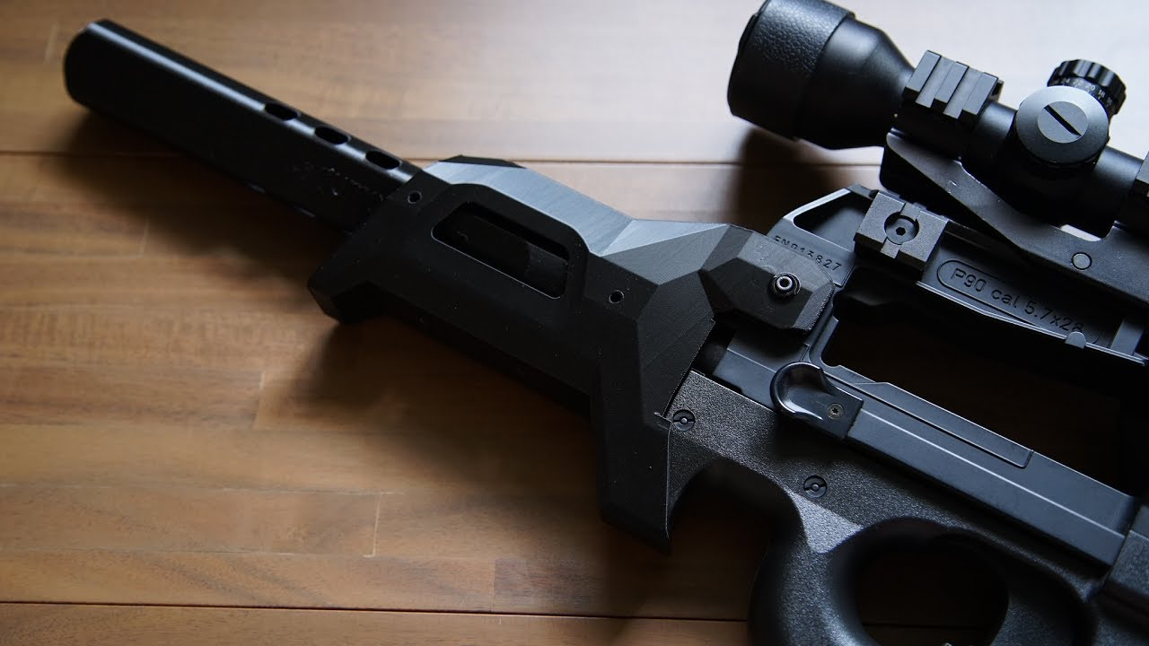 Stealth90 Extended Handguard For P90 Airsoft Custom Youtube