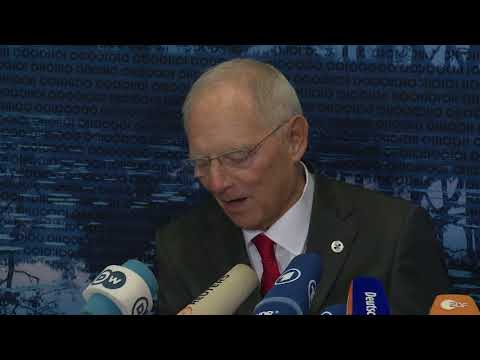 Informal ECOFIN – Press conference of Germany's Federal Minister of Finance Wolfgang Schäuble